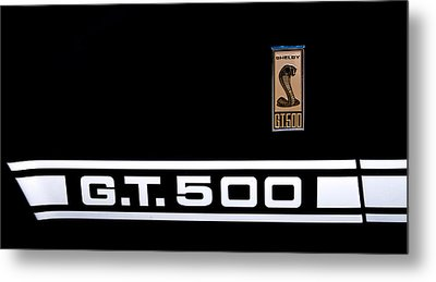 1967 Ford Mustang Shelby Gt500 Metal Print by David Patterson