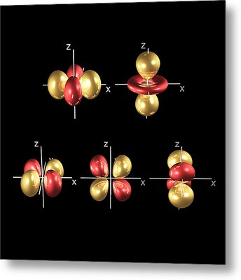 3d Electron Orbitals Metal Print by Dr Mark J. Winter