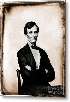 Abraham Lincoln, 16th American President Metal Print by Photo Researchers
