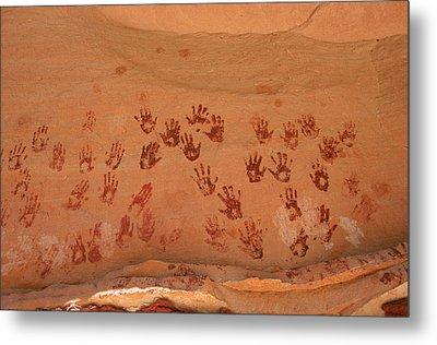 Ancient Pueblo-anasazi Rock Art Metal Print by Ira Block