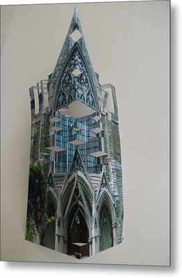 Architecture Reconstruction Metal Print by Alfred Ng