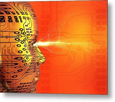 Artificial Intelligence Metal Print by Mehau Kulyk