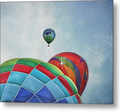 3 Balloons At Readington Metal Print by Pat Abbott
