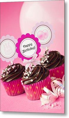Birthday Cupcakes Metal Print
