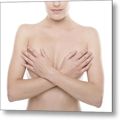 Breast Self-examination Metal Print by