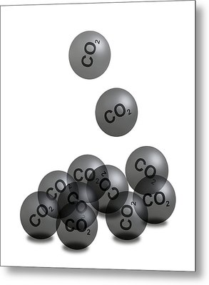Carbon Dioxide And Climate Change Metal Print by Victor De Schwanberg