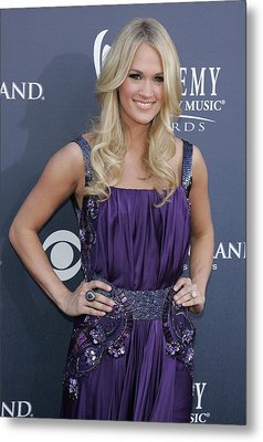 Carrie Underwood At Arrivals Metal Print by Everett