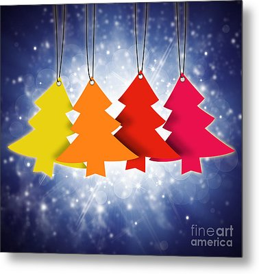 Christmas Card  Metal Print by Setsiri Silapasuwanchai