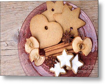 Christmas Gingerbread Metal Print by Nailia Schwarz