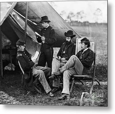 Civil War: Union Officers Metal Print by Granger