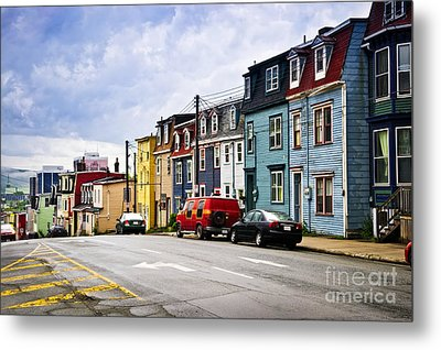 Colorful Houses In St. John's Newfoundland Metal Print by Elena Elisseeva