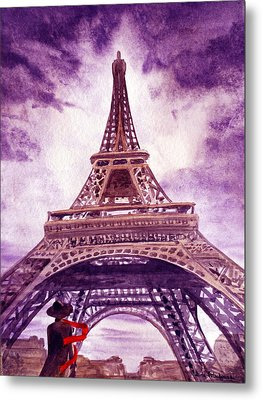 Eiffel Tower Paris Metal Print by Irina Sztukowski