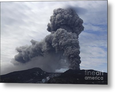 Eyjafjallajökull Eruption, Iceland Metal Print by Martin Rietze