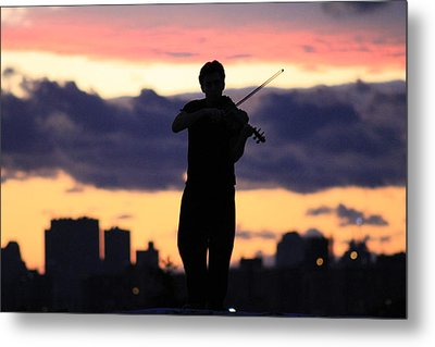 Fiddler On The Roof Metal Print by Nina Mirhabibi