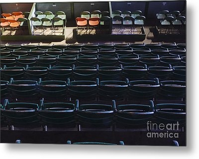 Fort Worth Stockyards Coliseum Seating Metal Print by Jeremy Woodhouse