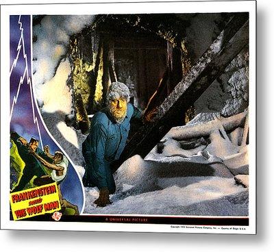 Frankenstein Meets The Wolf Man, Main Metal Print by Everett