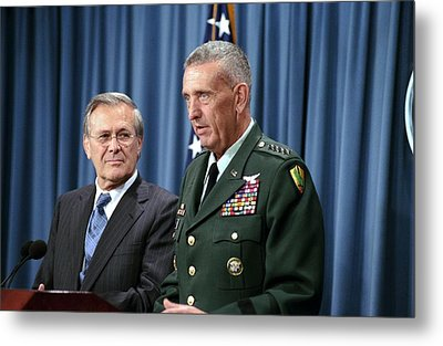 General Tommy Franks Commander Of U.s Metal Print by Everett