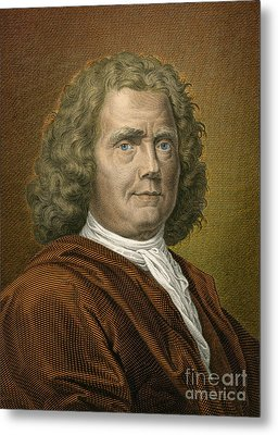 Herman Boerhaave, Dutch Physician Metal Print by Science Source