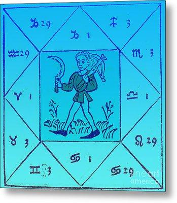 Horoscope Types, Engel, 1488 Metal Print by Science Source