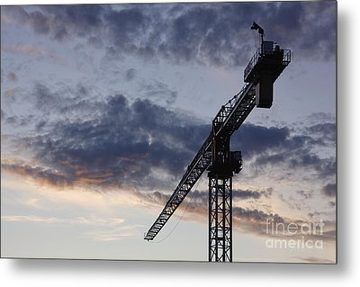 Industrial Crane Metal Print by Jeremy Woodhouse