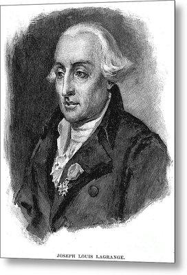 Joseph Louis Lagrange Metal Print by Granger