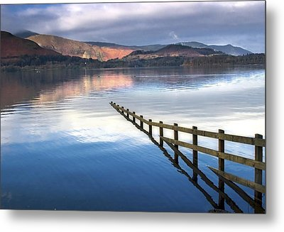 Lake Derwent, Cumbria, England Metal Print by John Short