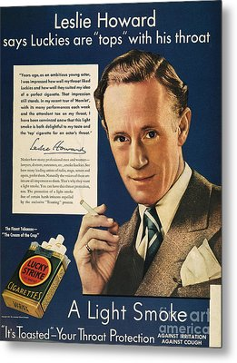 Lucky Strike Cigarette Ad Metal Print by Granger
