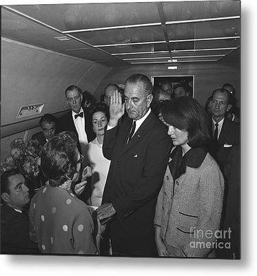 Lyndon Baines Johnson Metal Print by Granger