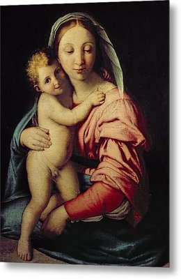 Madonna And Child Metal Print by Il Sassoferrato