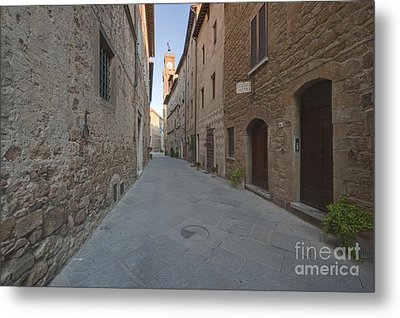 Medieval Street And Clock Tower Metal Print by Rob Tilley