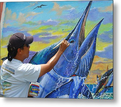 Mural In St Thomas Metal Print by Carey Chen