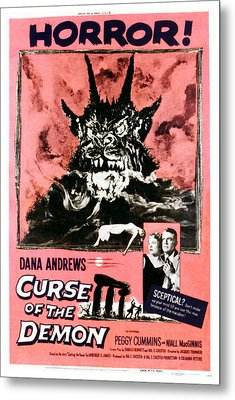 Night Of The Demon, Aka Curse Of The Metal Print by Everett