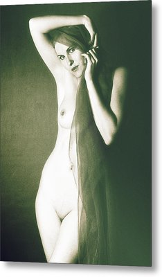 Nude Metal Print by Falko Follert