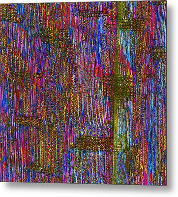 Pine Wood Structure, Light Micrograph Metal Print by Dr Keith Wheeler