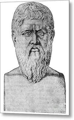 Plato, Ancient Greek Philosopher Metal Print by Science Source