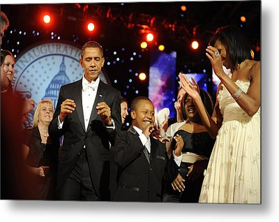 President And Michelle Obama Dance Metal Print by Everett