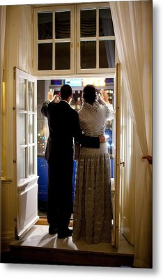 President Barack Obama And First Lady Metal Print