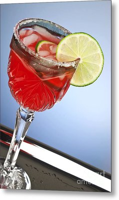 Red Cocktail Drink Metal Print by Blink Images
