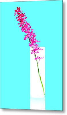 Red Orchid Bunch Metal Print by Atiketta Sangasaeng