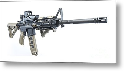 Rock River Arms Ar-15 Rifle Equipped Metal Print by Terry Moore