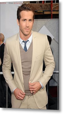 Ryan Reynolds At Arrivals For The Metal Print by Everett