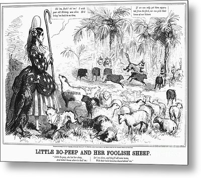 Secession Cartoon, 1861 Metal Print by Granger