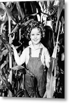 Shirley Temple (1928- ) Metal Print by Granger