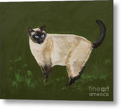 Sweetest Siamese Metal Print by Leslie Allen