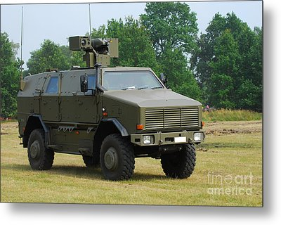 The Dingo 2 In Use By The Belgian Army Metal Print by Luc De Jaeger