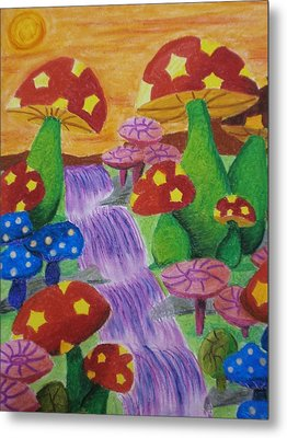 The Enchanted Mushroom Forest Metal Print by Adam Wai Hou