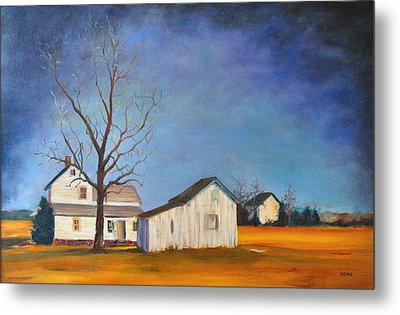 The Last Farm Metal Print by Robert Henne