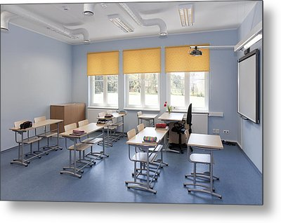 A Newly Built School Part Of The Basic Metal Print