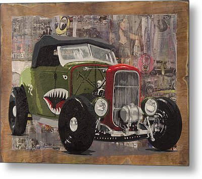 32 Ford Roadster Warhawk Metal Print by Josh Bernstein