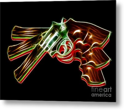 357 Magnum - Electric Metal Print by Wingsdomain Art and Photography
